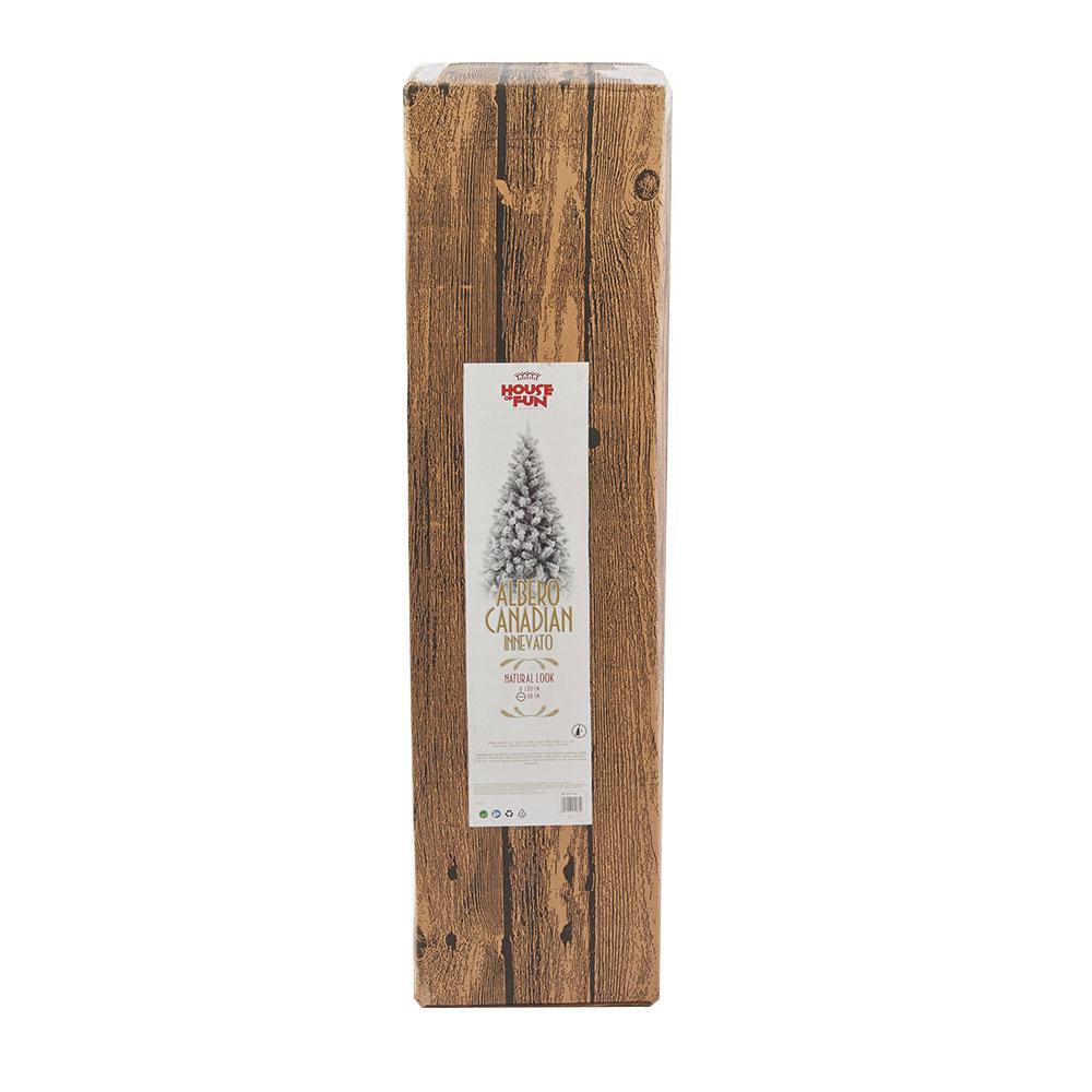 Albero di Natale Canadian artificiale innevato, altezza